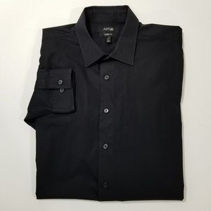 APT 9 Mens Black Dress Shirt